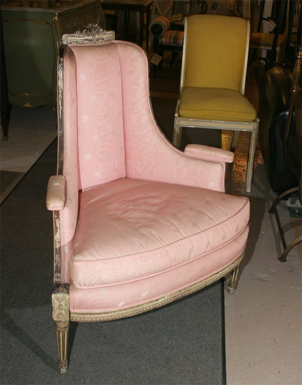 Painted Louis XVI  Style Corner Chair Attr. Jansen 9
