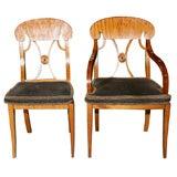 Set of Ten Vintage Biedermeier Dining Chairs