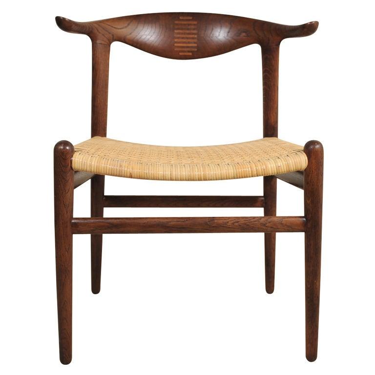 Cowhorn chair hans wegner for sale at 1stdibs - Hans wegner style chair ...