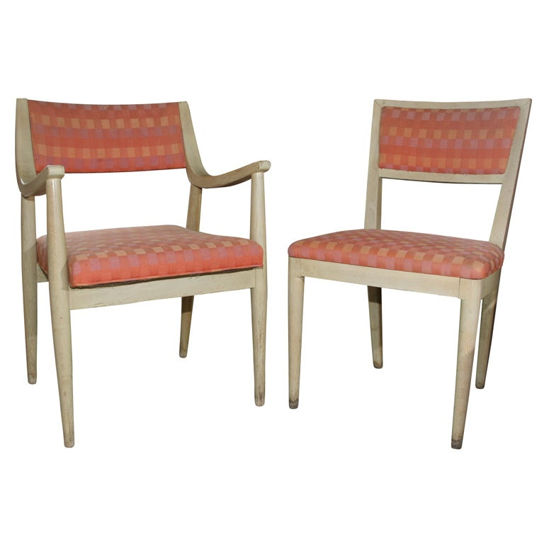 set of 8 mid century dining room chairs at 1stdibs