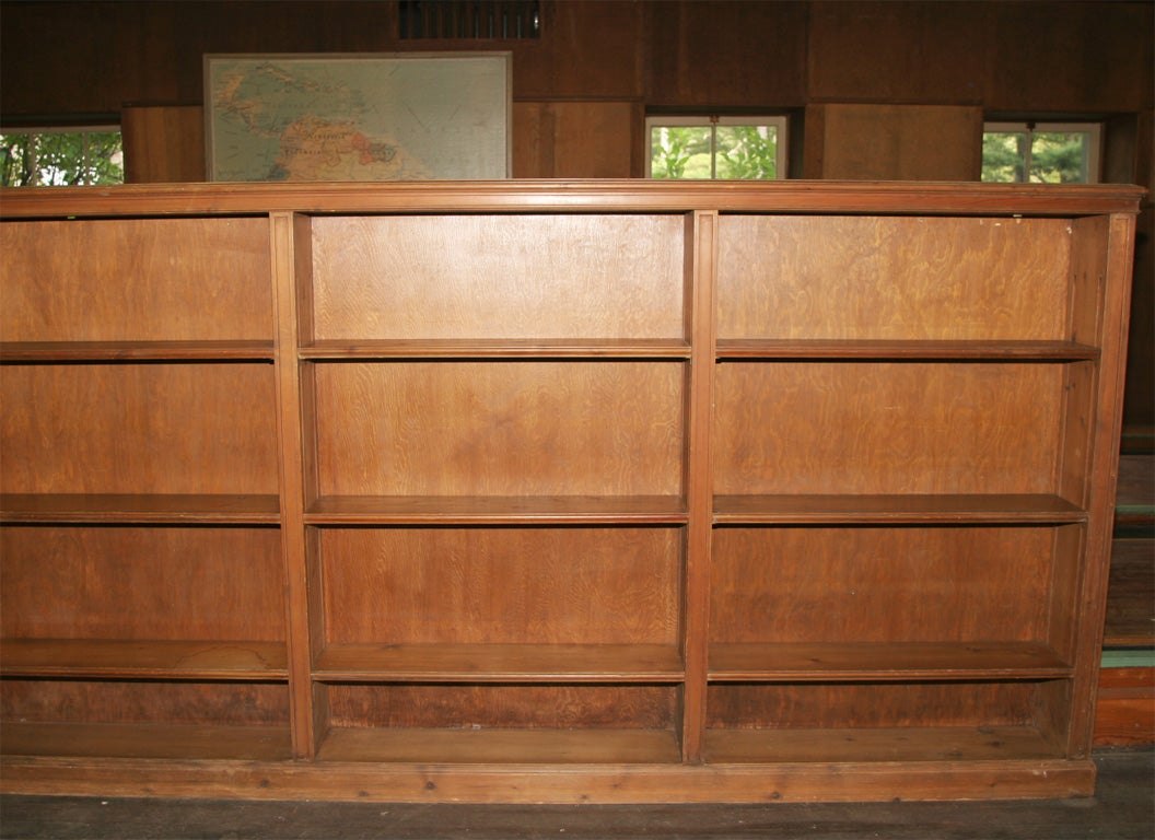 American 1930s Knotty Pine Bookcase For Sale