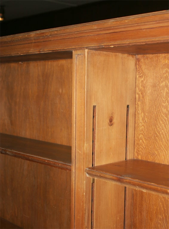 Creative Knotty Pine Bookcases