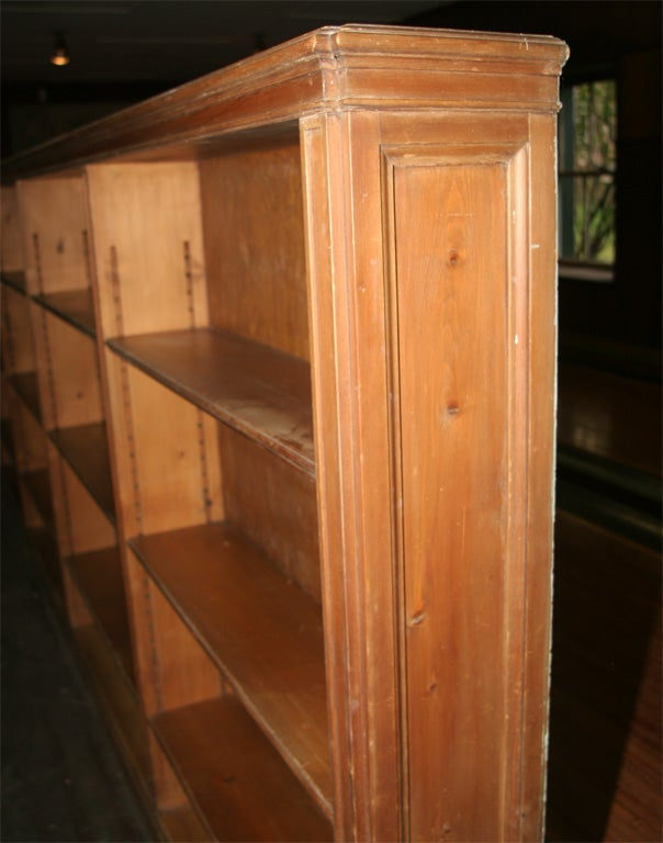 Model  Gt American Knotty Pine Fireplace Surround Trumeau And Pair Bookcases
