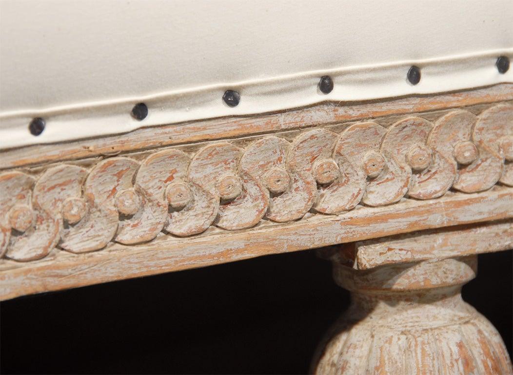 Wood Gustavian Style Settee