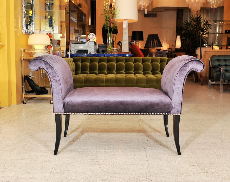 Hollywood Glamour Bench At 1stdibs