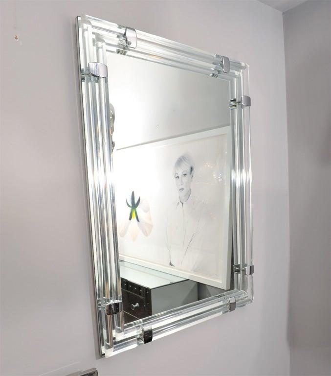 Glass and chrome tubular mirror at 1stdibs - The tubular glass house ...