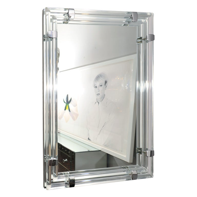Mirror with Glass Tubular Rods