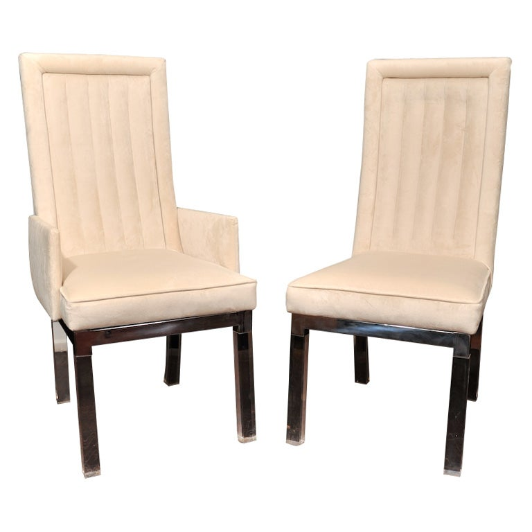 set of 10 charles hollis jones dining chairs cream ultra
