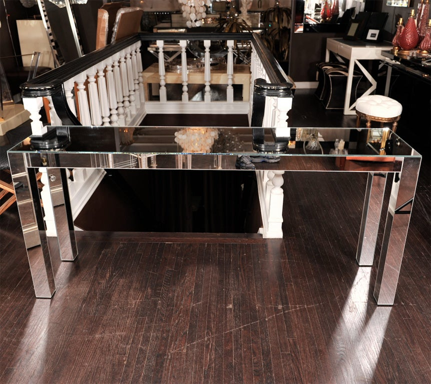 Custom parson style mirrored console for sale at 1stdibs for Table 6 in as 3725