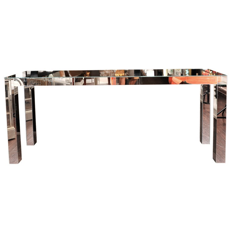Custom Parson Style Mirrored Console
