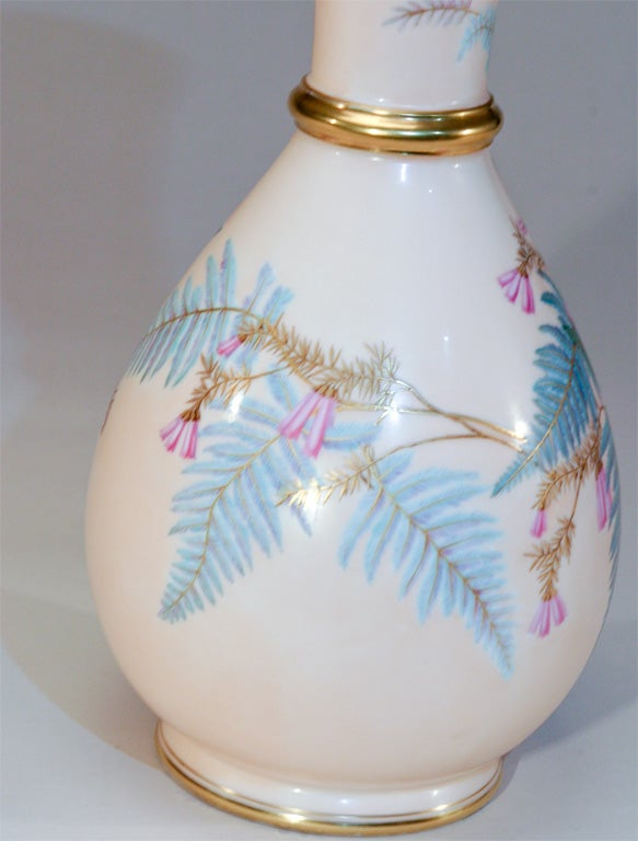 Aesthetic Movement Hand Painted Porcelain Vase For Sale 1