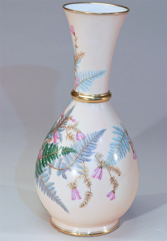 Aesthetic Movement Hand Painted Porcelain Vase For Sale 2