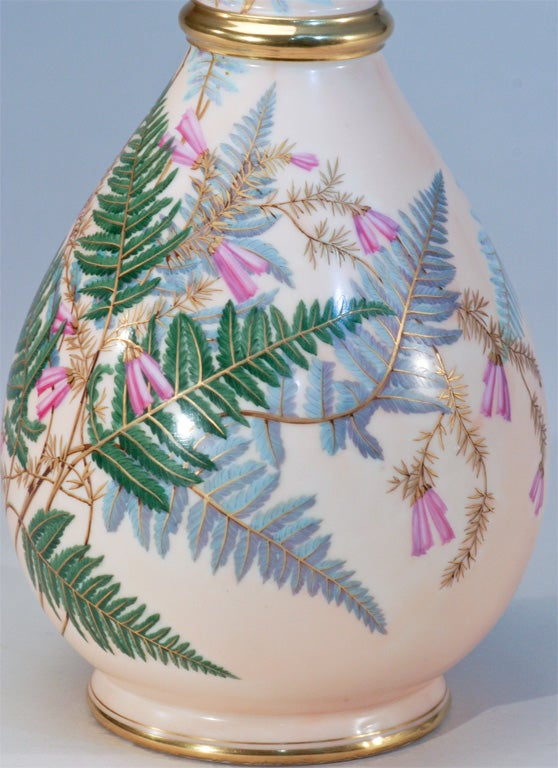 Aesthetic Movement Hand Painted Porcelain Vase For Sale 3
