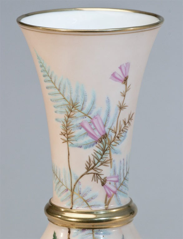 Aesthetic Movement Hand Painted Porcelain Vase For Sale 4