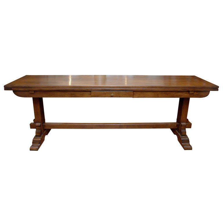 El marangon walnut folding console table at 1stdibs for Table console retractable