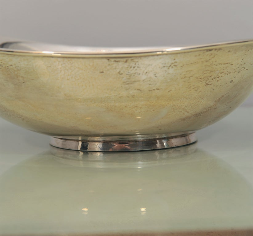 Mid-20th Century Mid-Century Modern Hand-Wrought Sterling Silver Bowl by Allan Adler For Sale