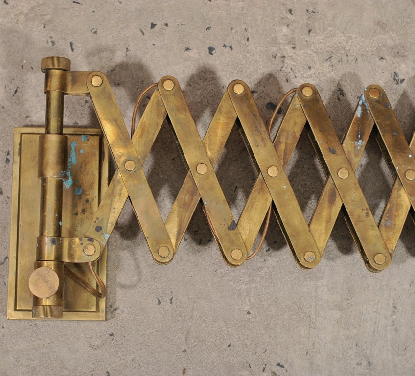 Wall Sconces Home Hardware : Pair of solid brass wall sconces with all original hardware at 1stdibs