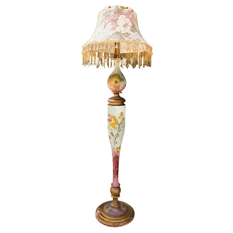 Victorian floor lamp at 1stdibs for Victorian wooden floor lamp