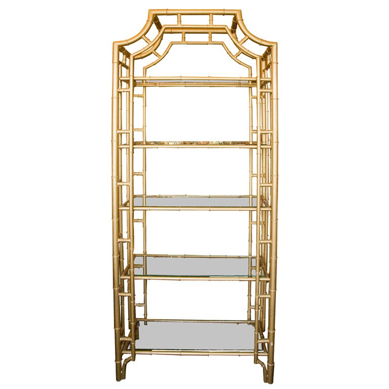 Gold Bamboo Etagere At 1stdibs