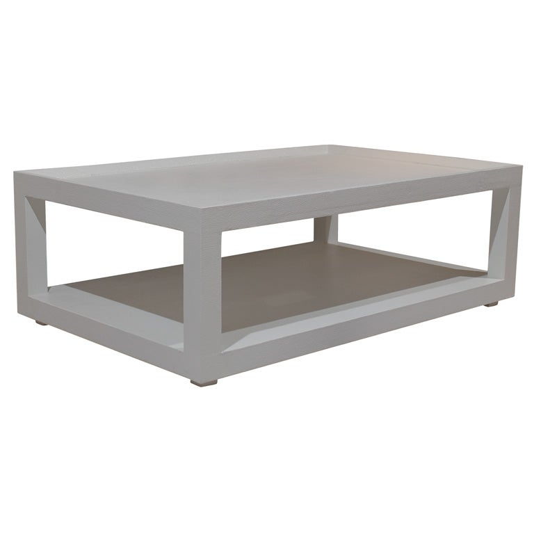 White Rectangle Coffee Table At 1stdibs
