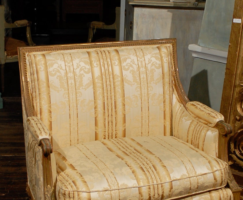 Late 19th Century French Louis XVI Style Marquise Chair 2