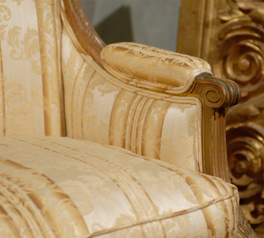 Late 19th Century French Louis XVI Style Marquise Chair 3