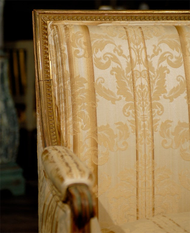 Late 19th Century French Louis XVI Style Marquise Chair 5