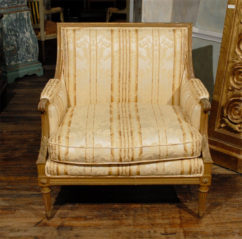 Late 19th Century French Louis XVI Style Marquise Chair 6