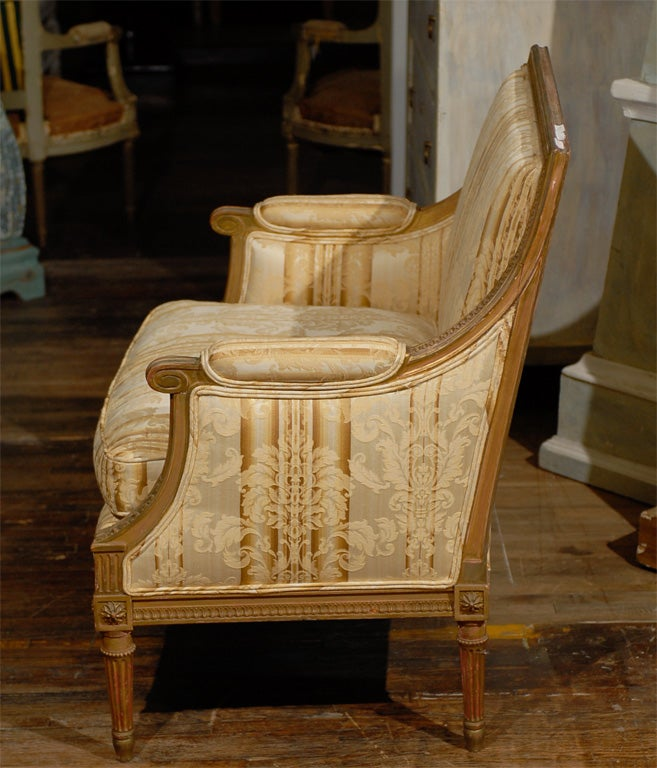 Late 19th Century French Louis XVI Style Marquise Chair 7