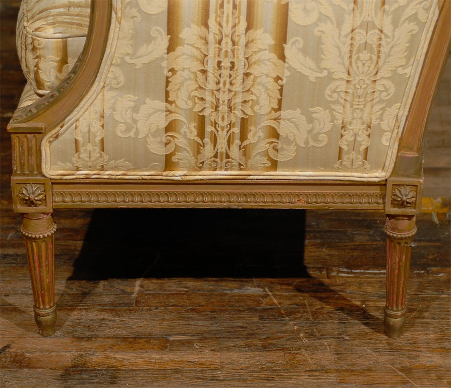 Late 19th Century French Louis XVI Style Marquise Chair 8