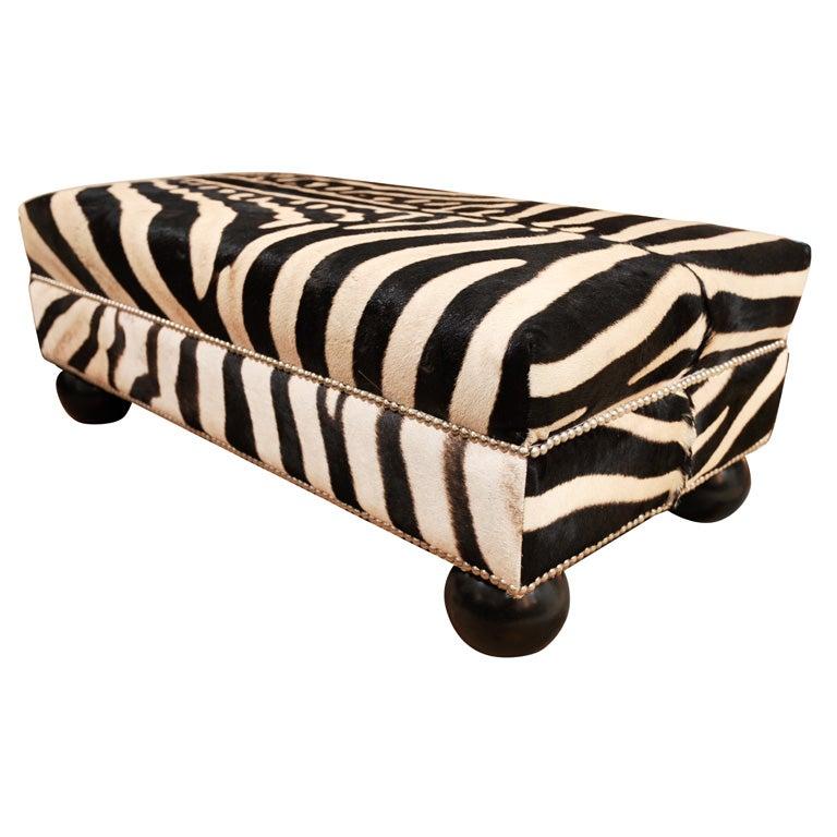 Zebra Skin Ottoman