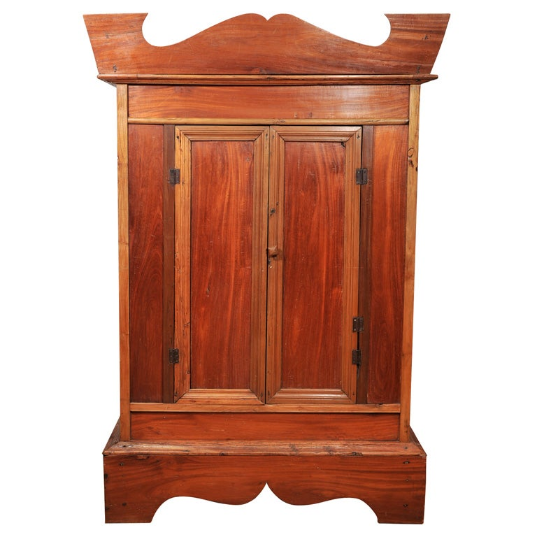 mahogany colonial armoire at 1stdibs. Black Bedroom Furniture Sets. Home Design Ideas
