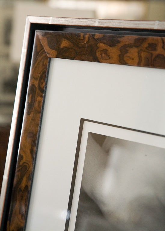 Burl Framed Silver Print from Original Negative by Imogen Cunningham For Sale