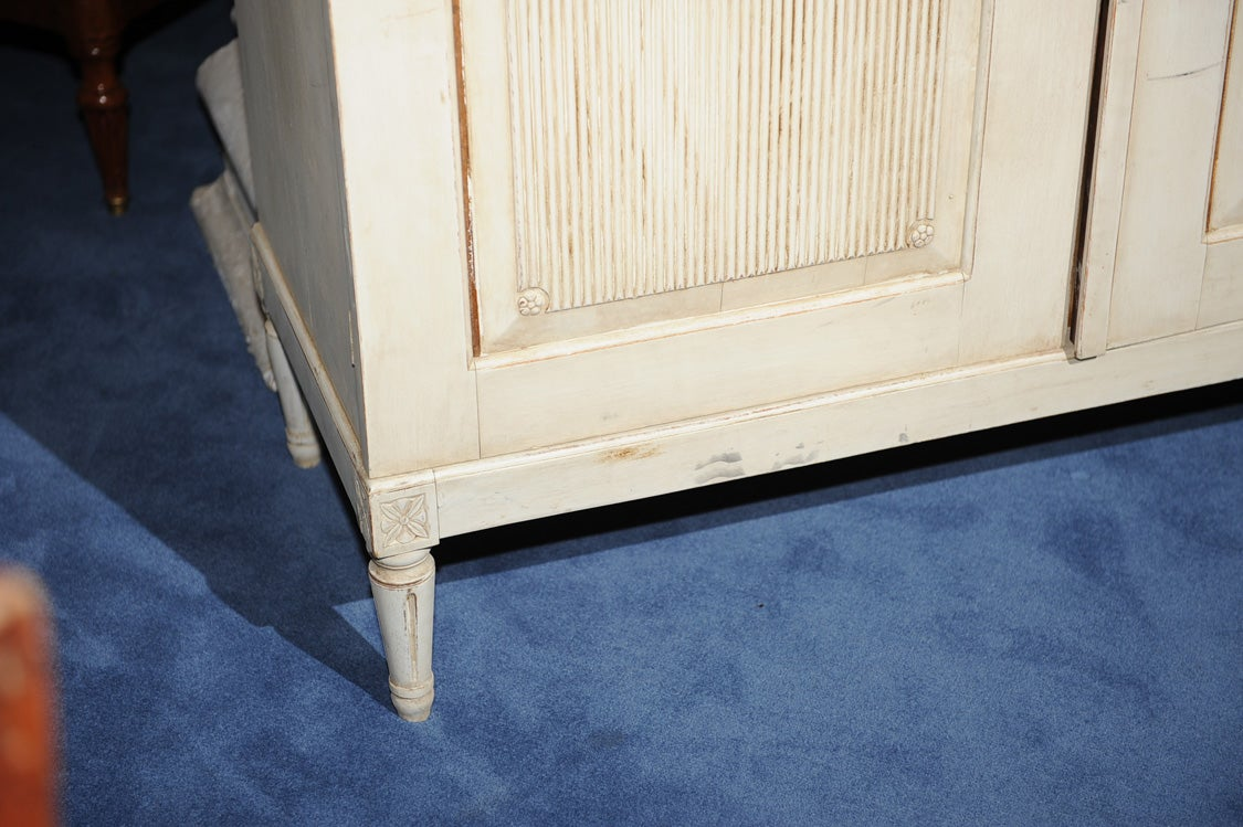 Swedish Neoclassical Painted Linen Cabinet At 1stdibs