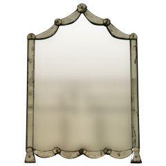 An Early 20th Century Mirror with Swag Detail