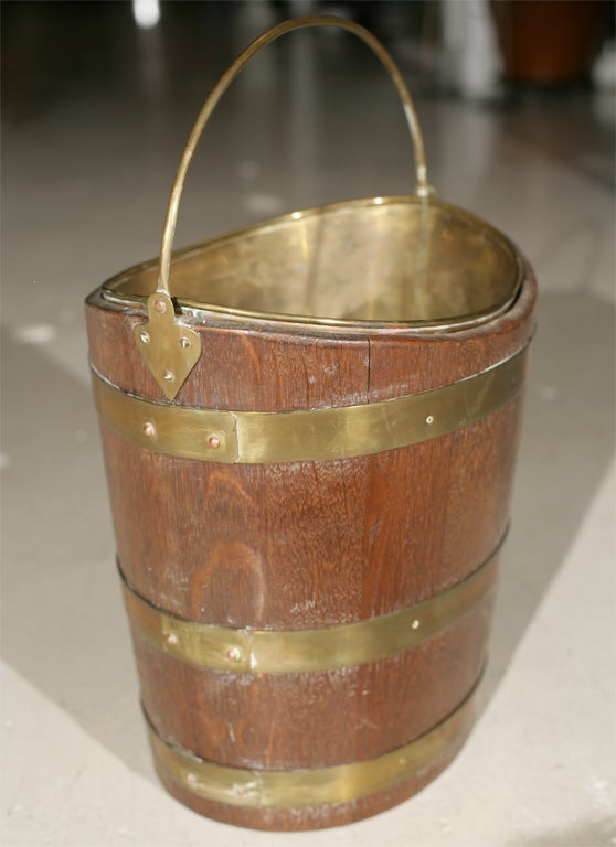 19th Century Irish Peat Bucket For Sale