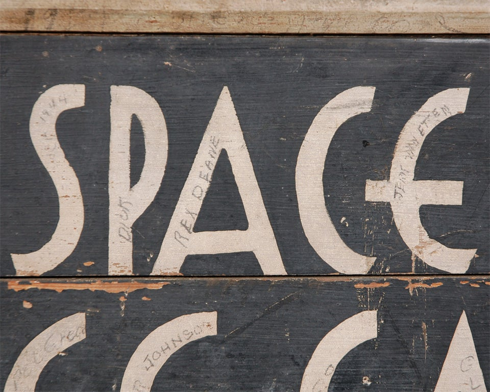 Mid-20th Century Deco Car Parking Sign For Sale