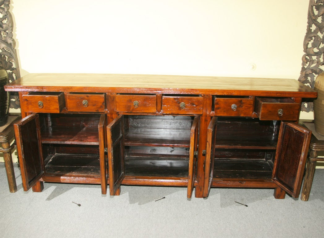 Chinese 19th century shanxi sideboard buffet console for Asian furniture nyc
