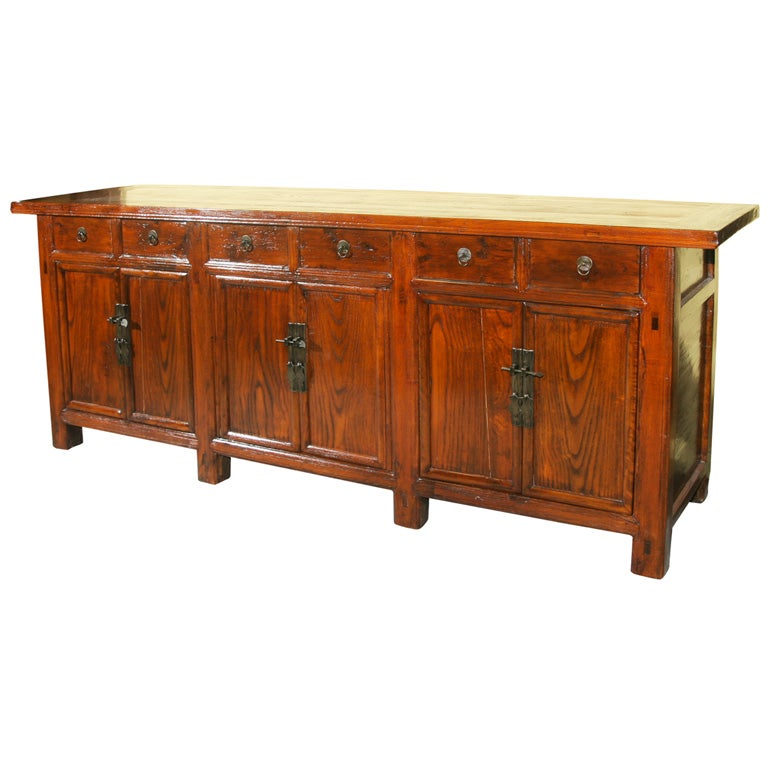Chinese 19th century shanxi sideboard buffet console for Asian console cabinet