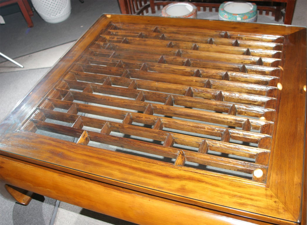 CHINESE 19TH CENTURY OPEN GRILL WORK CHOW LEG COFFEE TABLE 2