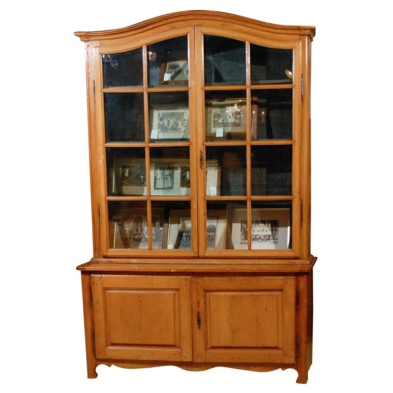 French Bookcase with Glass Doors at 1stdibs