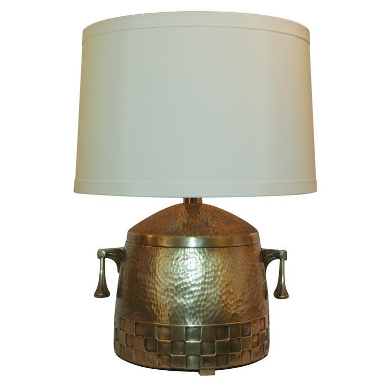 this a jugendstil hammered brass table lamp is no longer available. Black Bedroom Furniture Sets. Home Design Ideas