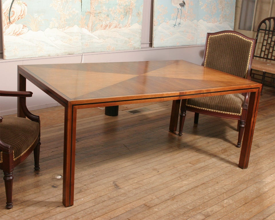 Walnut extension dining table at 1stdibs for M s dining room tables