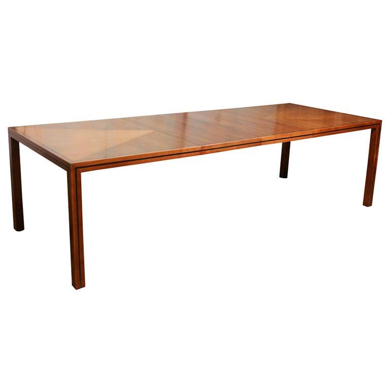 walnut extension dining table at 1stdibs