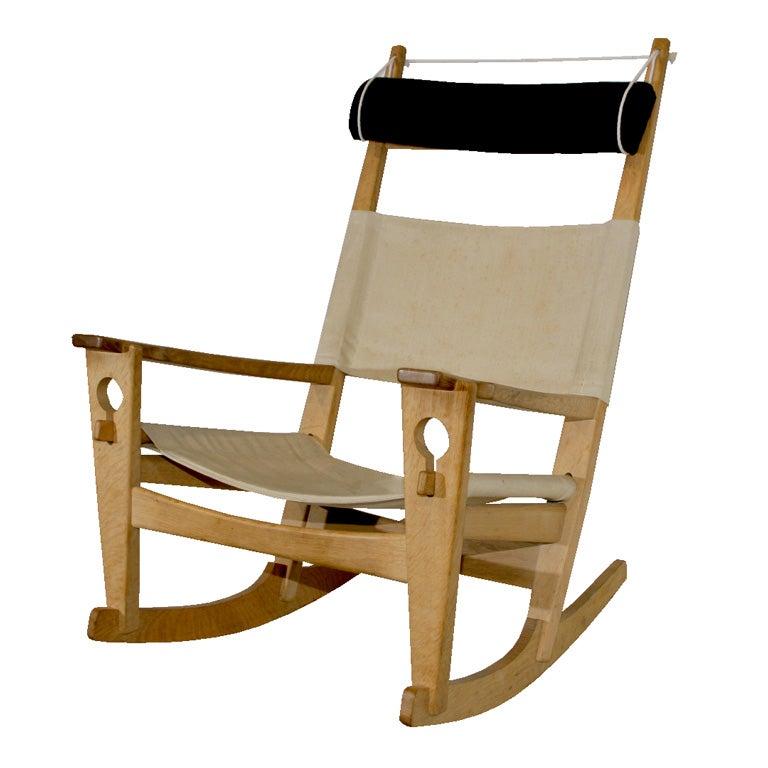 Keyhole Rocking Chair by Hans Wegner at 1stdibs