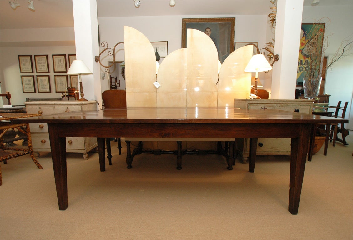 7 foot 11 inch long farmhouse dining table at 1stdibs for Dining room table 32 wide