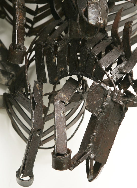 Welded Iron Wall Sculpture of Wild Horses image 10