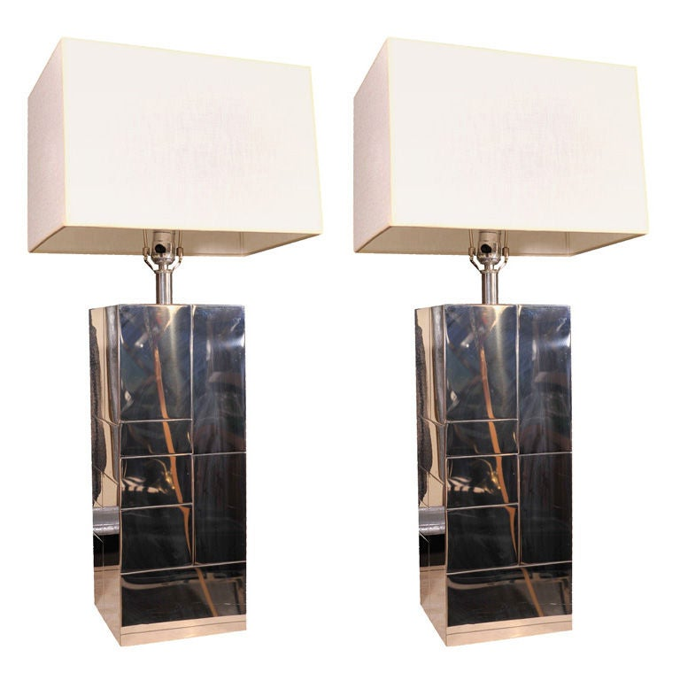 """Paul Evans """"cityscape"""" table lamps at 1stdibs"""