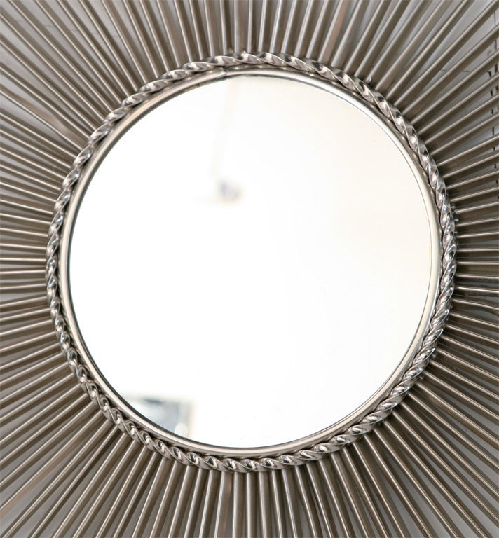 Signed chaty vallauris brass sunburst mirror at 1stdibs for Chaty vallauris miroir