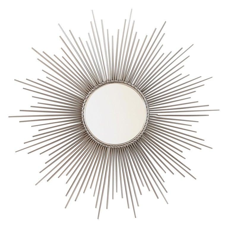 Signed chaty vallauris brass sunburst mirror at 1stdibs for Sunburst mirror